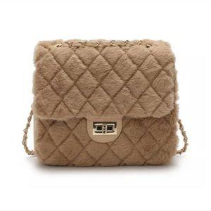 Fur Light Brown Handbag